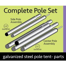 20 x 20 Standard Tent Pole Set - Galvanized Steel
