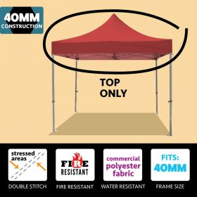 10' x 10' Oxford 40mm Speedy Tent Top - Red