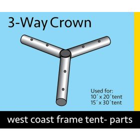 3 Way Crown for West Coast Frame Tents