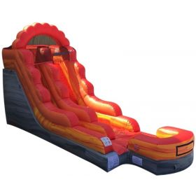 15' Fire Marble Wet / Dry Inflatable Slide with Blower
