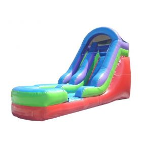 15' Tall Retro Rainbow Wet / Dry Inflatable Slide with Blower
