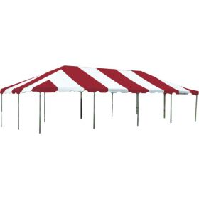 15' x 30' West Coast Frame Party Tent - Red and White