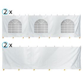 30' x 30' Party & Canopy Tent Premium Blockout Sidewall Kit