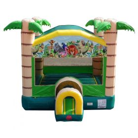 Tropical Paradise Bounce House with Blower