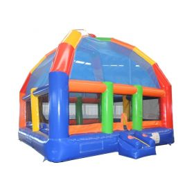 Big Bubba 22' x 22' Giant Rainbow Bounce House with Blower