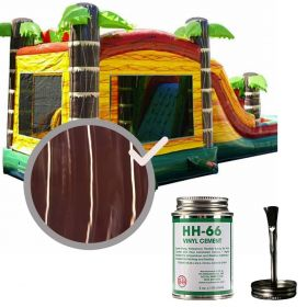 Moose Supply Inflatable Bounce House Vinyl Repair Kit, Brown Marble with 4 oz. HH66 Glue
