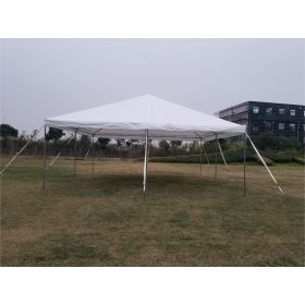 20' x 20' PE Weekender West Coast Frame Party Tent - White