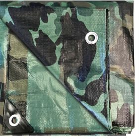 10' x 10' Multi-Purpose Water Resistant Camo Poly Tarp Cover