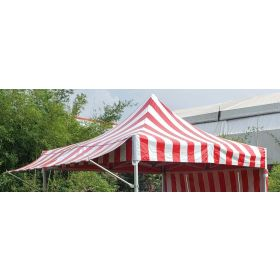 10' PVC Speedy Pop-up Tent Canopy Top Extension, Red and White