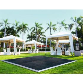 12' x 18' Commercial Portable Black Dance Floor
