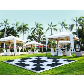 27' x 27' Commercial Portable Black/White Checkered Dance Floor