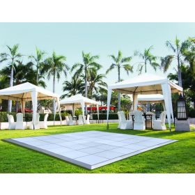 12' x 20' Commercial Portable White Dance Floor