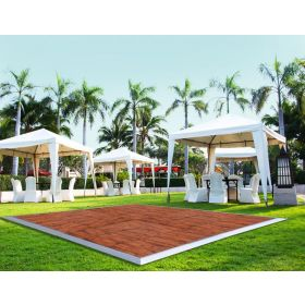 9' x 15' Commercial Portable Wood Finish Dance Floor
