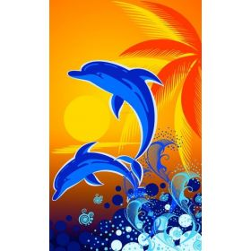 Dunking Booth Dolphin Canvas