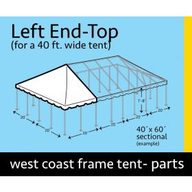 40' x 20' Rope End Extender West Coast Frame Top Only