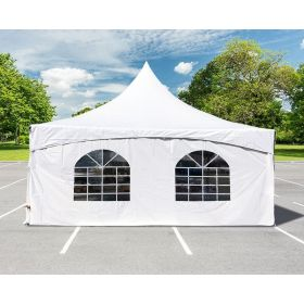 8' x 20' High Peak Cathedral Side Wall with Velcro & Clip Connections