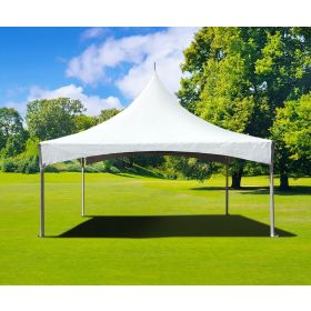 15' x 15' High Peak Frame Party Tent - White