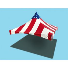 10 x 10 High Peak Frame Top Only - Red, White & Blue