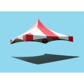 20' x 20' High Peak Frame Top Only - Striped Red and White
