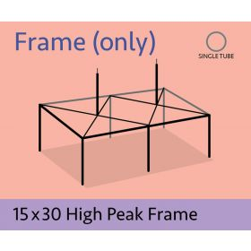15' x 30' High Peak Canopy Tent Frame Only