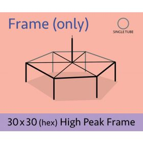 30' Hexagon High Peak Canopy Tent Frame Only
