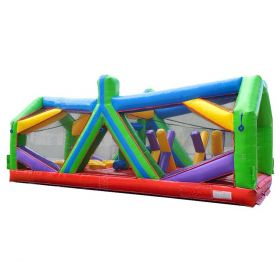 30' Retro Radical Run Extreme Unit #2 Inflatable Obstacle Course with Blower