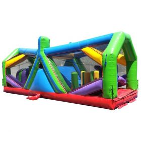 30' Retro Radical Run Extreme Unit #5 Inflatable Obstacle Course with Blower