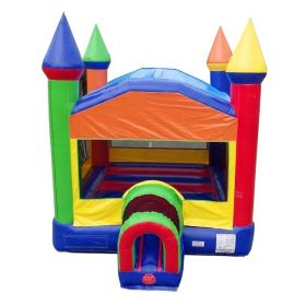 Compact Kids Rainbow Bounce House with Blower