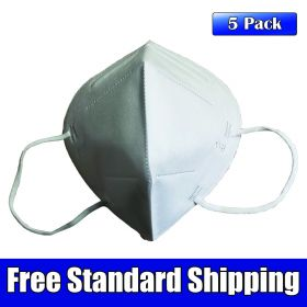 KN95 GB 2626-2006 Disposable Filtering Respirator Mask, 5 Pack High Efficiency