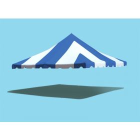 20' x 20' Premium Pole Party Tent Top - Blue and White