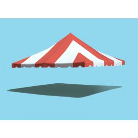 20' x 20' Premium Pole Party Tent Top - Red and White