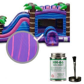 Moose Supply Inflatable Bounce House Vinyl Repair Kit, Purple Marble with 4 oz. HH66 Glue