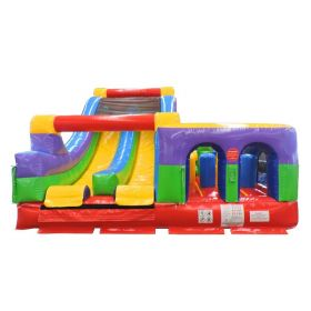 Retro Radical Run Inflatable Obstacle Course with Blower