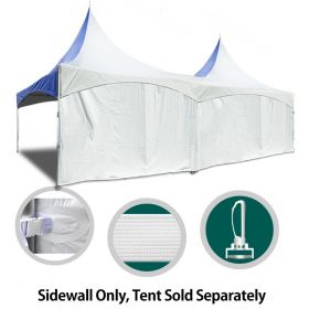 8' x 40' High Peak Frame Party & Canopy Tent Premium Blockout Solid Sidewall