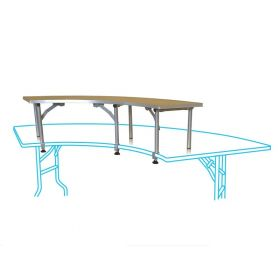 Inner Bar Top Riser for 10 Foot Serpentine Folding Table