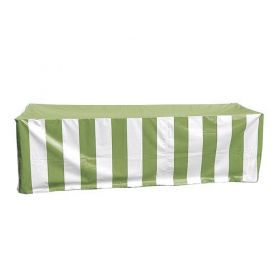 Vinyl 8' Banquet Table Cover, Green & White