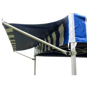 10' PVC Speedy Pop-up Tent Canopy Top Extension, Blue and White