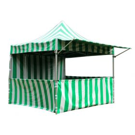 10' x 10' 50mm Speedy Pop-up Party Tent with Sidewalls, Green and White