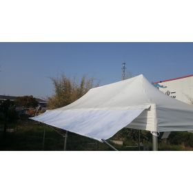 10' PVC Speedy Pop-up Tent Canopy Top Extension, White