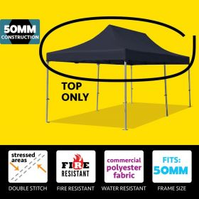 10' x 20' Oxford Speedy Tent Top Only - Black