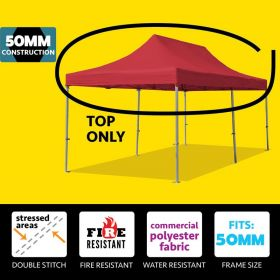 10' x 20' Oxford Speedy Tent Top Only - Red