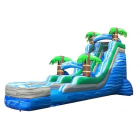 18' Tropical Marble Wet / Dry Inflatable Slide with Blower