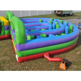Retro U-Turn Inflatable Obstacle Course