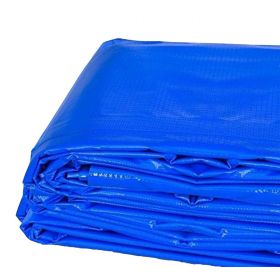 4' x 18' Heavy Duty Waterproof PVC Vinyl Tarp - Blue