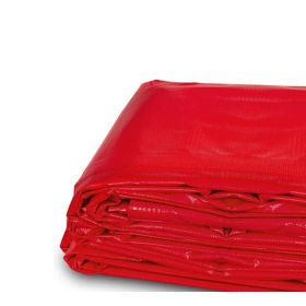 4' x 18' Heavy Duty Waterproof PVC Vinyl Tarp - Red
