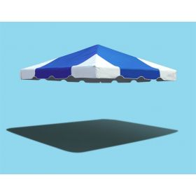 10' x 10' West Coast Frame Party Tent Top - Blue and White