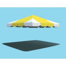 10' x 10' West Coast Frame Party Tent Top - Yellow and White