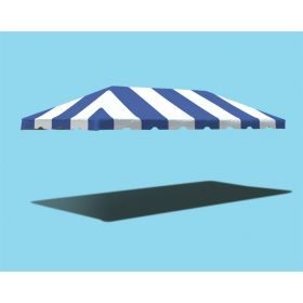 10' x 20' West Coast Frame Party Tent Top - Blue and White