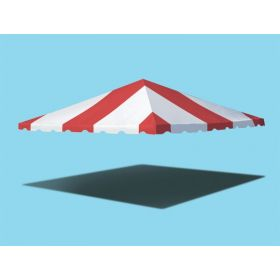 15' x 15' West Coast Frame Party Tent Top - Red and White
