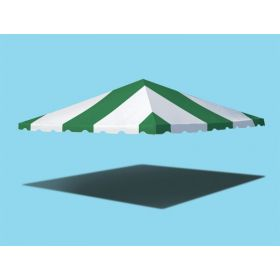 20' x 20' West Coast Frame Party Tent Top - Green and White